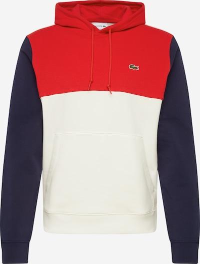 LACOSTE Sweat-shirt en marine / rouge / blanc, Vue avec produit