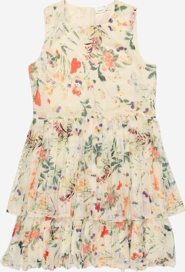NAME IT Kleid in beige / grün / mischfarben / rot, Produktansicht