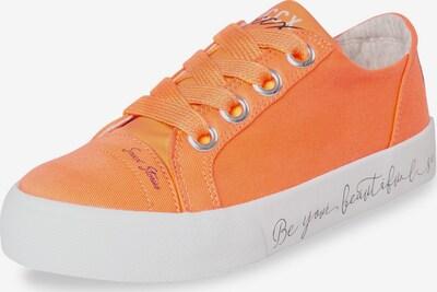 Soccx Veganer Plateau-Sneaker in orange / weiß, Produktansicht