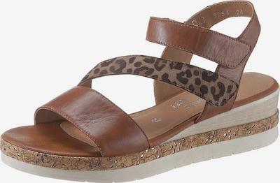 REMONTE Sandale in karamell / schwarz, Produktansicht