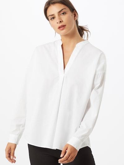 Bluză 'Popli' ESPRIT pe alb: Privire frontală