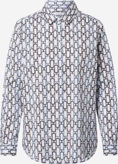 SEIDENSTICKER Bluse in hellblau / braun / weiß, Produktansicht