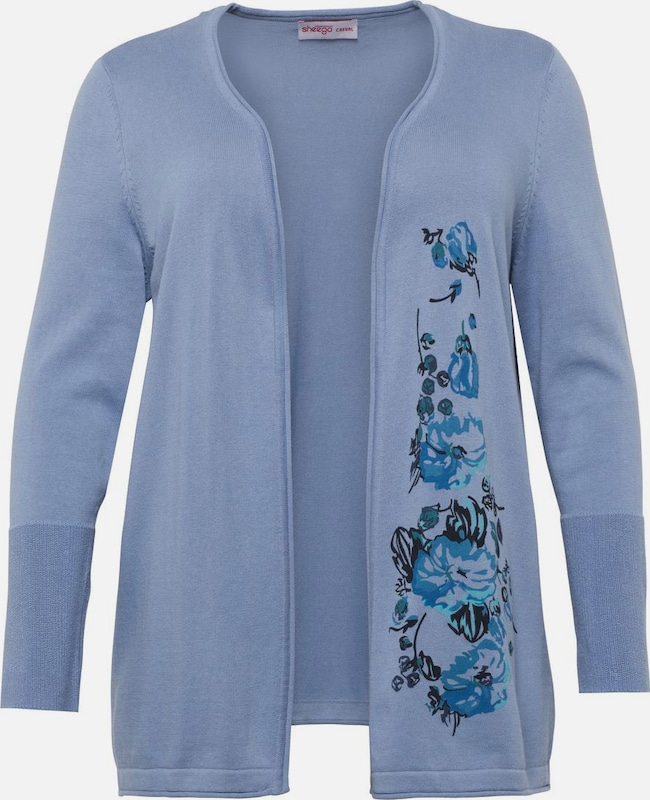 SHEEGO Cardigan in blau: Frontalansicht
