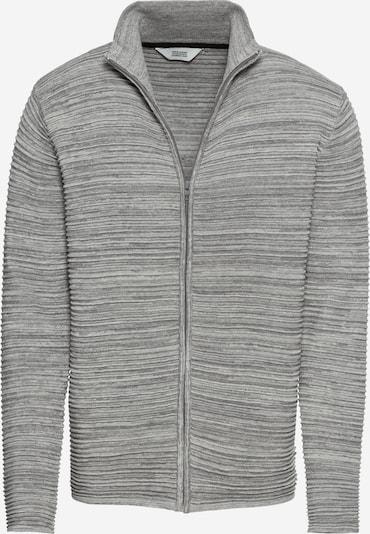 !Solid Džemperis 'Knit - Struan Zip' raibi pelēks, Preces skats