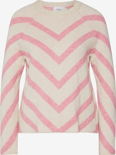 ONLY Pullover 'LELIZA' in beige / rosa, Produktansicht