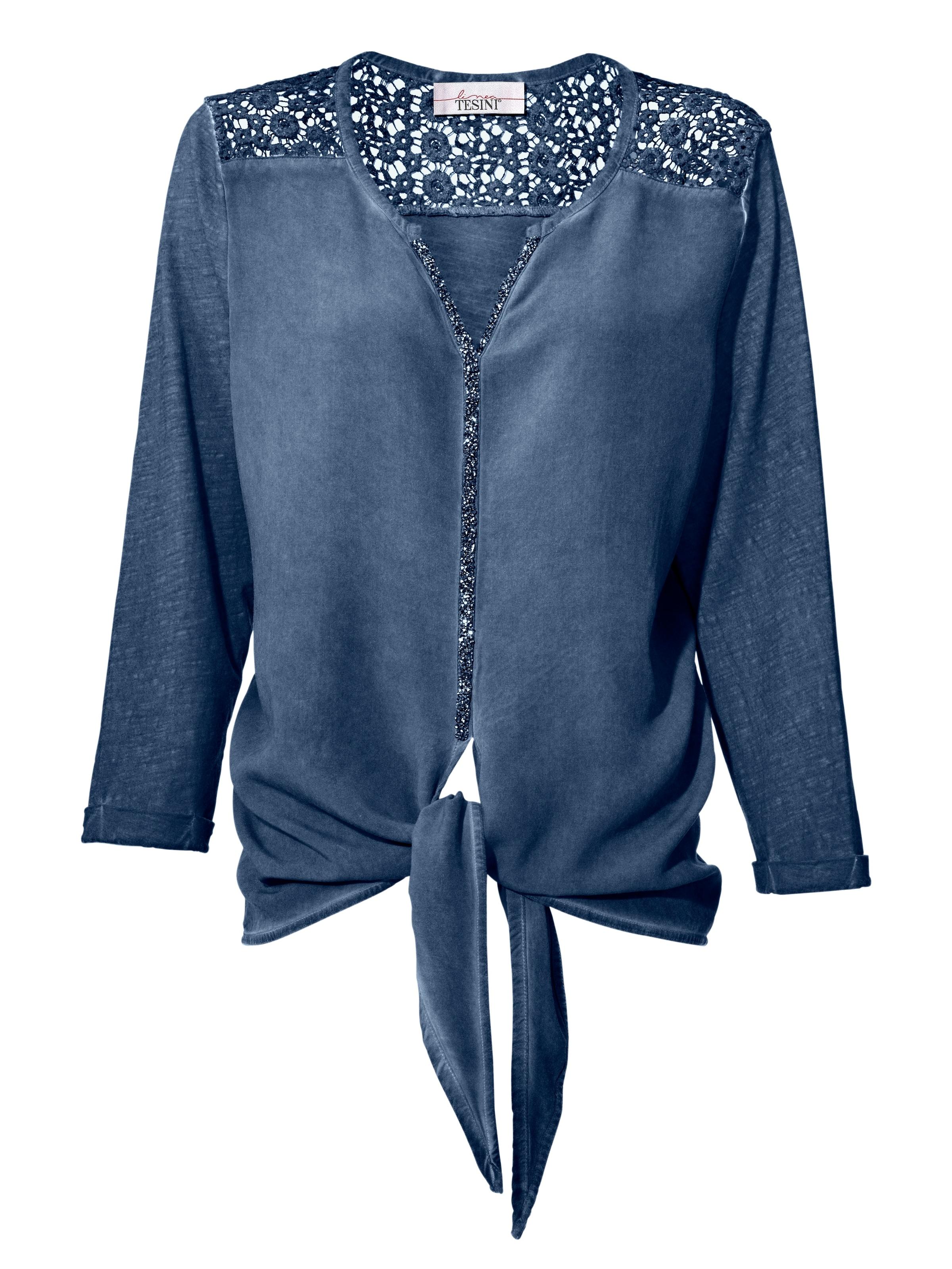 Ebay Auslass Aus Deutschland Linea Tesini by heine Blusenshirt mit Spitze kfAVCuDITg
