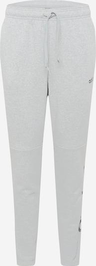 ADIDAS PERFORMANCE Športne hlače | pegasto siva / črna barva: Frontalni pogled