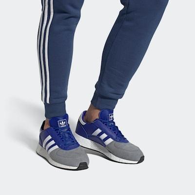 ADIDAS ORIGINALS Sneaker 'MARATHON TECH' in blau / grau / weiß: Frontalansicht