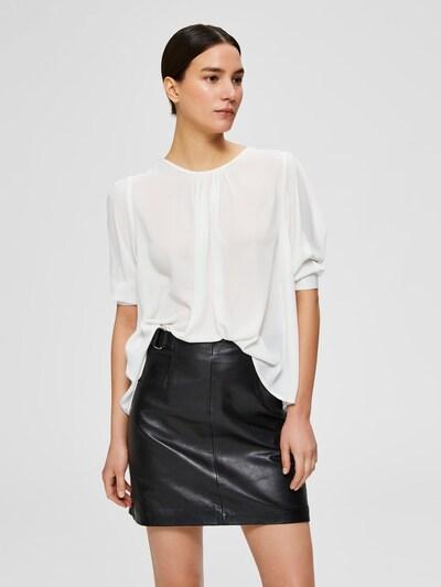 SELECTED FEMME Blusenshirt 'SLFBAILEY' in weiß, Modelansicht