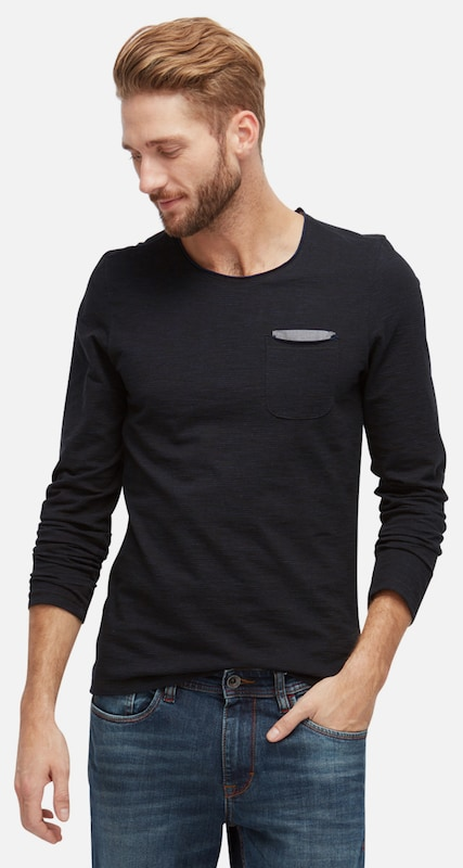 TOM TAILOR T-Shirt gestreiftes Langarmshirt