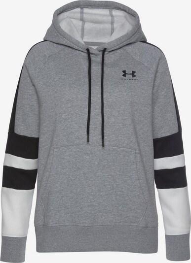 UNDER ARMOUR Sweatshirt in grau / schwarz / weiß, Produktansicht