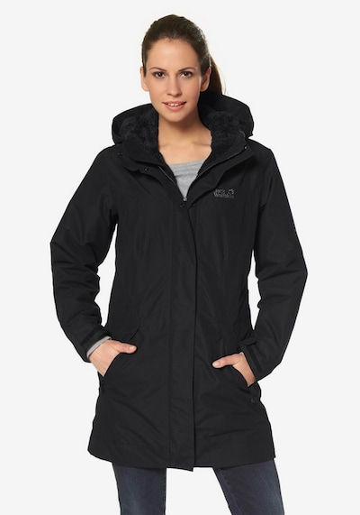 JACK WOLFSKIN Mantel '5th Avenue' in schwarz: Frontalansicht