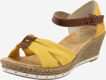 Sandales RIEKER en jaune