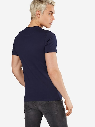 Lyle & Scott Shirt in dunkelblau / gelb: Rückansicht