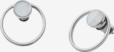 SKAGEN Ohrringe in silber / weiß, Produktansicht