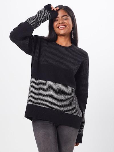 basic apparel Pulover 'Janis'   črna barva: Frontalni pogled