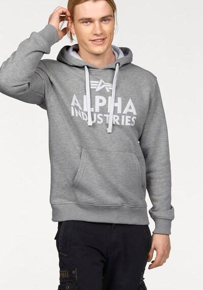 alpha industries hoodie weiß aboutyou