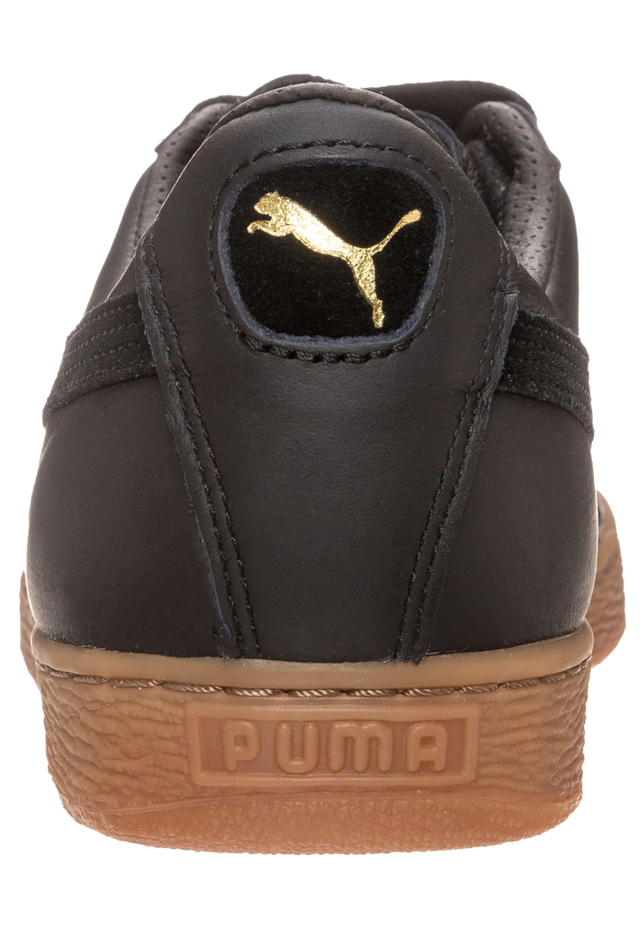 Deluxe' En 'basket Puma Baskets Noir Classic Basses Gum uiTOkPXZ