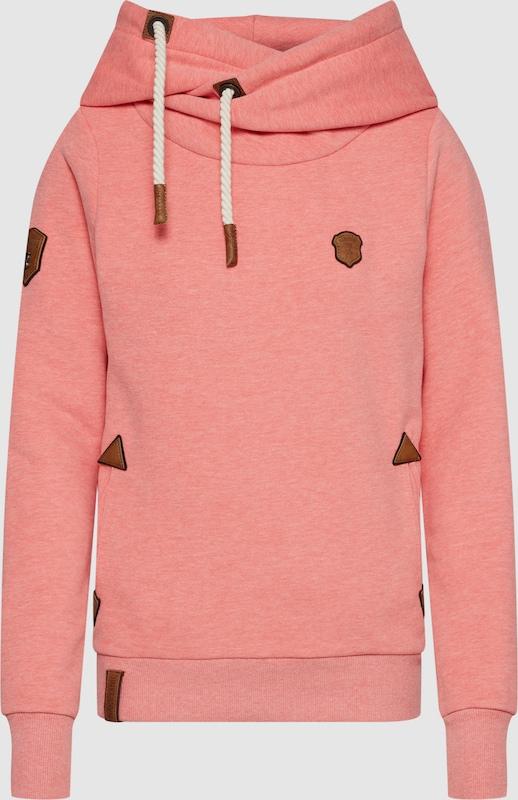 Naketano Sweatshirt '65 Darth' in braun   lachs   weiß  Freizeit, schlank, schlank