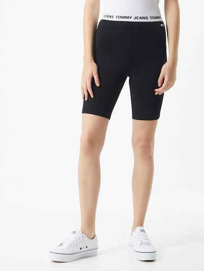 Tommy Jeans Leggings in schwarz / weiß, Modelansicht