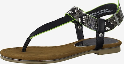 MARCO TOZZI T-bar sandals in Neon green / Black / Silver, Item view