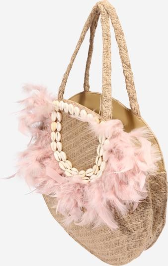 Zwillingsherz Plážová taška 'Feder' - béžová / růžová, Produkt