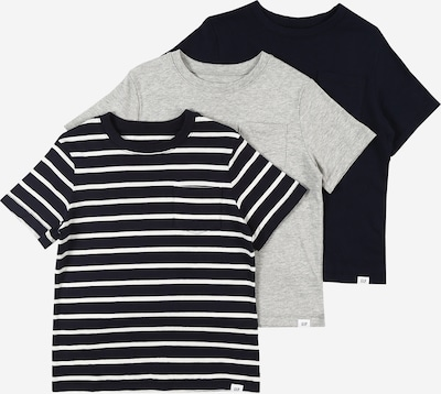 GAP T-Shirt en bleu foncé / gris / blanc, Vue avec produit