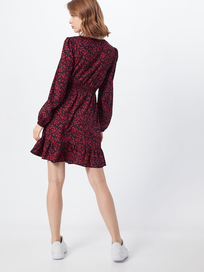 NEW LOOK Robe '3PE ANNIE LS BUTN SHIRRED MIN' en rouge: Vue de dos