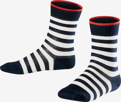 FALKE Socken 'Double Stripe' in nachtblau / rot / weiß, Produktansicht