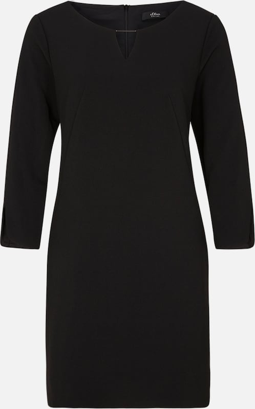 s.Oliver BLACK LABEL Kleid in schwarz: Frontalansicht