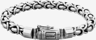KUZZOI Armband 'Twisted' in silber, Produktansicht