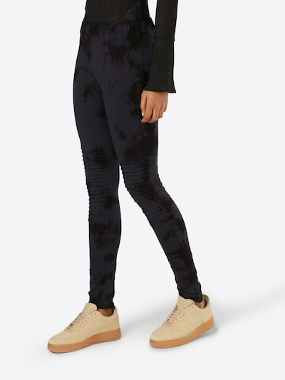 Urban Classics Leggings in dunkelblau / schwarz, Modelansicht