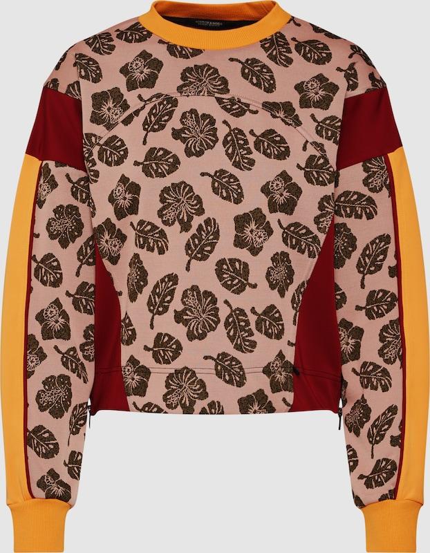 SCOTCH & SODA Sweatshirt in Goldgelb   mischfarben   Rosa   burgunder  Großer Rabatt