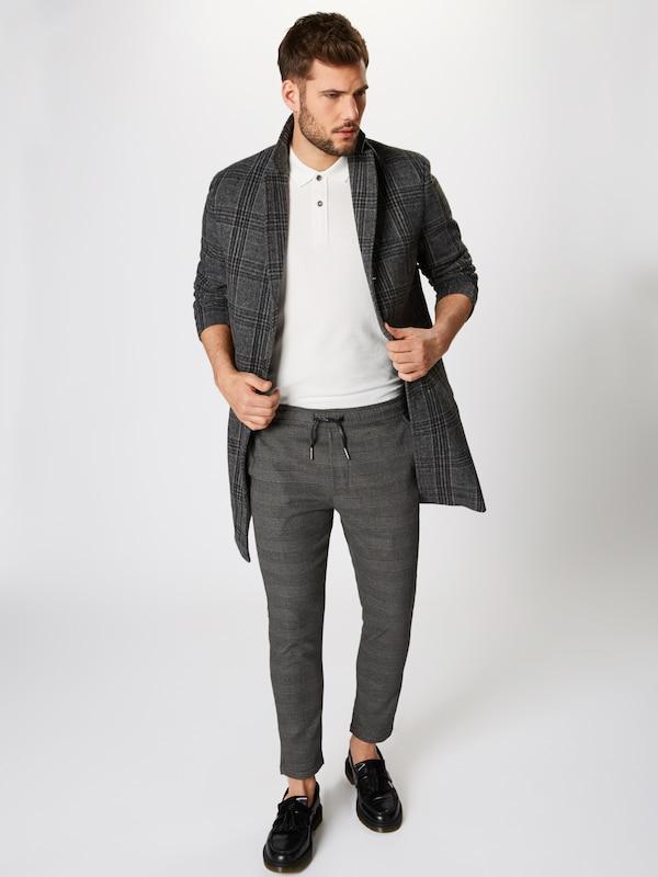 En Noir Pantalon 'slim solid truc' Yb7gyv6f