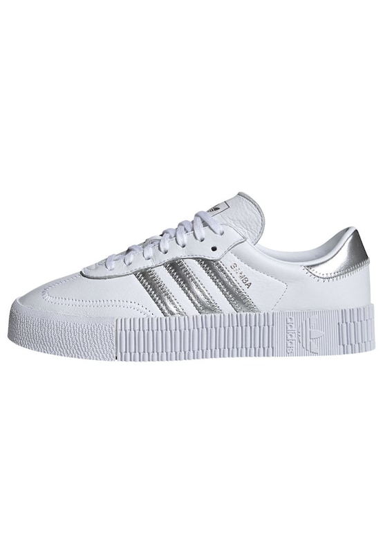 ADIDAS ORIGINALS Sneaker 'Sambarose' in silber / weiß