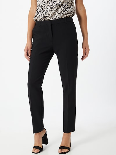 Esprit Collection Spodnie w kant w kolorze czarnym: Widok z przodu