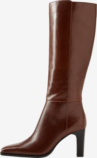 MANGO Bottes 'Diva' en brun foncé, Vue avec produit