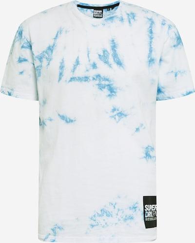 Superdry T-Shirt en bleu / blanc, Vue avec produit