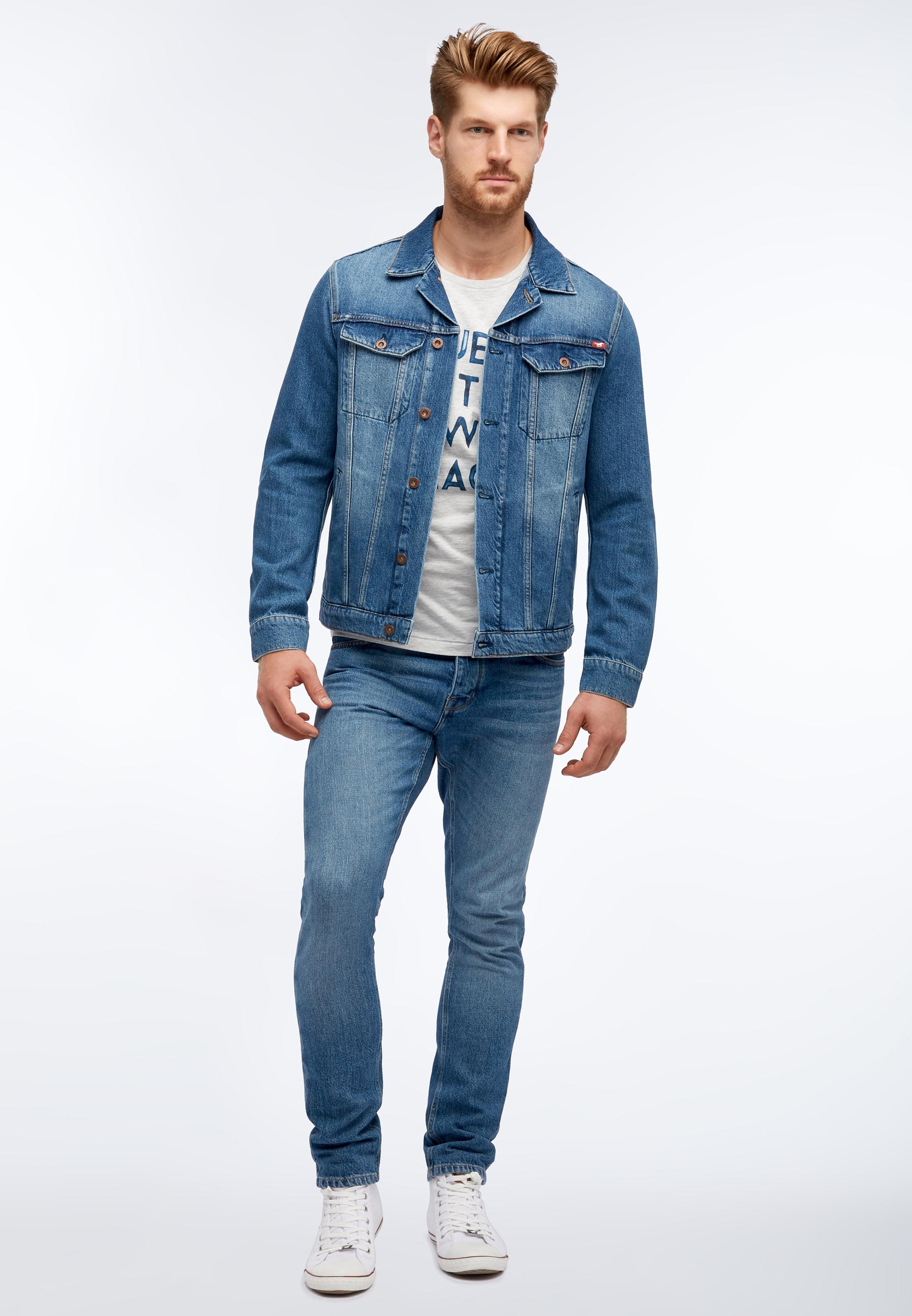 Mustang Jacke Denim Denim In Blue Mustang Jacke In Blue kiuOPXZT