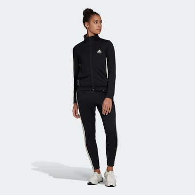 ADIDAS PERFORMANCE Sports Suit in Black / White: Frontal view