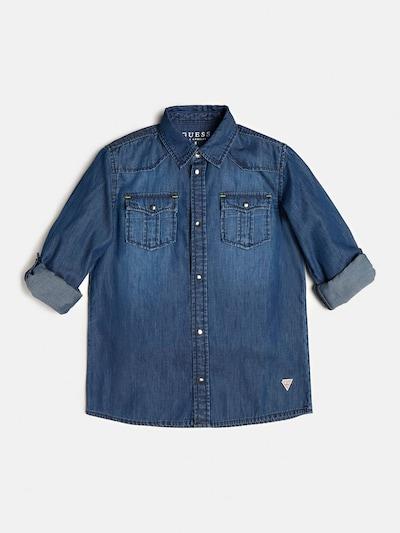 GUESS KIDS Jeanshemd in blue denim / weiß, Produktansicht
