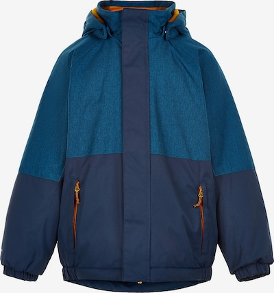 COLOR KIDS Winterjacke in navy / petrol / neonorange, Produktansicht
