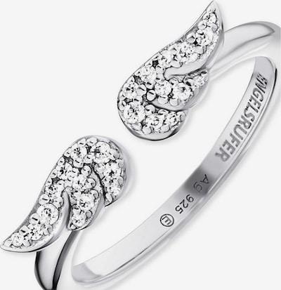 Engelsrufer Ring in silber / weiß, Produktansicht