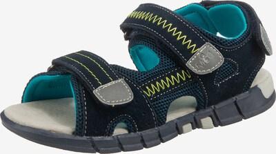 MOD8 Sandale 'Tribath' in nachtblau / royalblau / gelb / taupe, Produktansicht