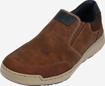 Papuci de casă RIEKER pe marine / caramel / maro închis: Privire frontală