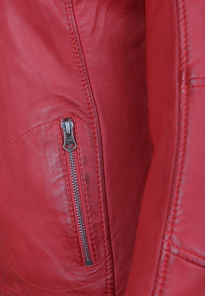 7ELEVEN Lederjacke 'SUSAN' in rot, Produktansicht