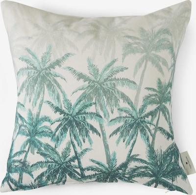 TOM TAILOR Home Kissen mit Palmen-Print in weiß, Produktansicht