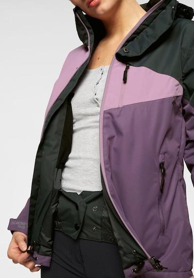 POLARINO Skijacke 'Polarino' in aubergine / rosa / schwarz, Produktansicht