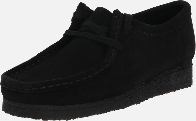 Clarks Originals Veterschoen 'Wallabee' in de kleur Zwart, Productweergave