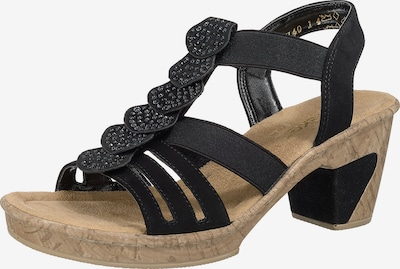 RIEKER Sandaletten in schwarz, Produktansicht
